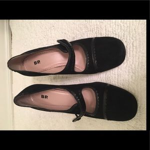 Vintage bp black suede heels - used